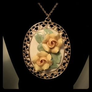 Vintage Pendant with Chain